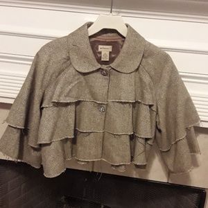 Anthropologie  Elevenses Cape Style Jacket Small